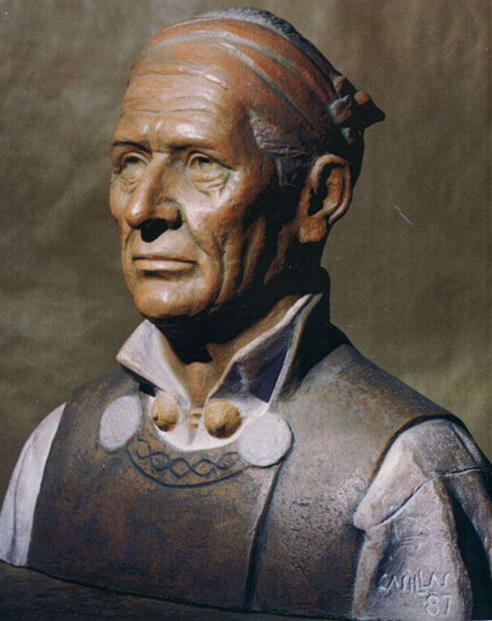 El busto del Tamborilero Serrano 'El Guinda'