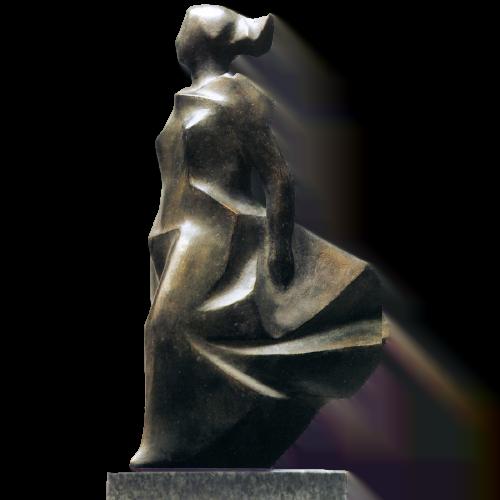 Mujer al viento