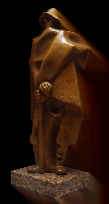 Pastor con manta, cayada y honda