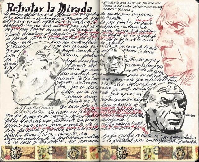 """""""RETRATAR LA MIRADA"""". TEXTO EN MI CUADERNO DE APUNTES SOBRE UNA ESCULTURA DE AGUSTÍN CASILLAS."""